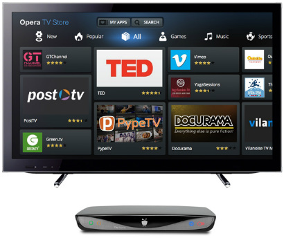 The Opera TV Store on a TiVo device