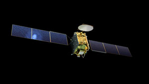 Artist's rendition of the new Eutelsat Quantum class satellite (Credit: Airbus Defence and Space)