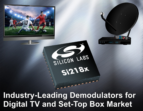 Industry leading Demodulators for Digital TV and Set-top Box Market