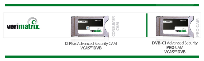 CI Plus Advanced Security CAM VCAS™ DVB; DVB-CI Advanced Security PRO CAM VCAS™ DVB