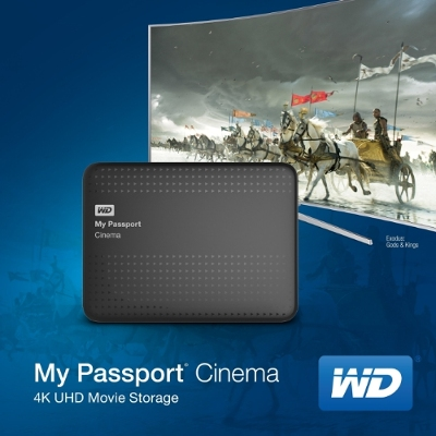 WD My Passport Cinema - 4K Ultra HD (UHD) Movie Storage