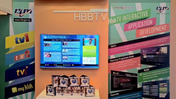RTM Superteks HbbTV application shown in ABU Digital Broadcasting Symposium 2016