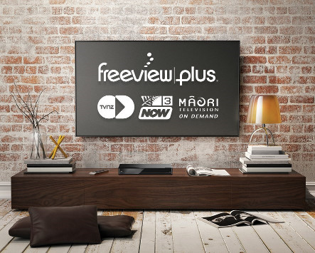 TV wall with FreeviewPlus