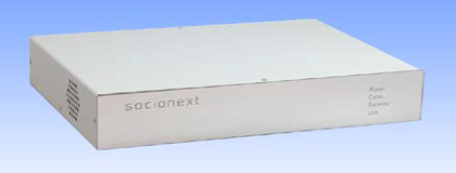 Socionext 4K/8K cable TV decoder prototype