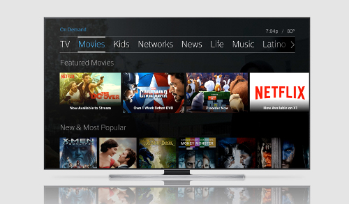 Comcast XFinity Movies - Netflix X1
