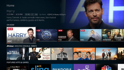 Amazon Fire TV Edition User Interface