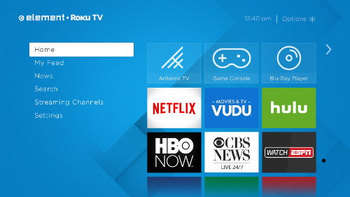 Roku and Element Electronics Screenshot