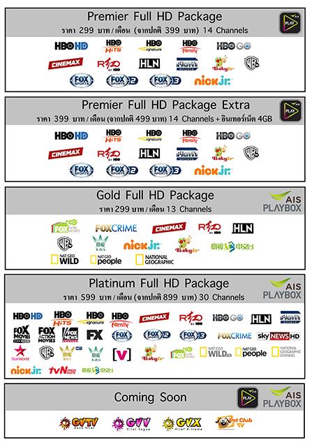 AIS (Advanced Info Service) Thailand channel lineup