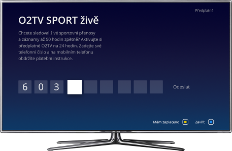 O2 TV SMS Payment