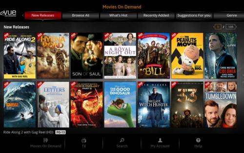 Evolution Digital eVUE-TV screen