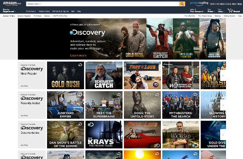 Amazon Prime - Discovery Live TV