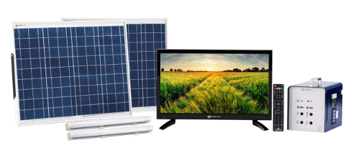 Simpa Networks solar-powered TV kit for India