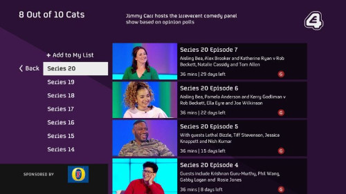 Accedo-Channel 4 'All 4' app screen