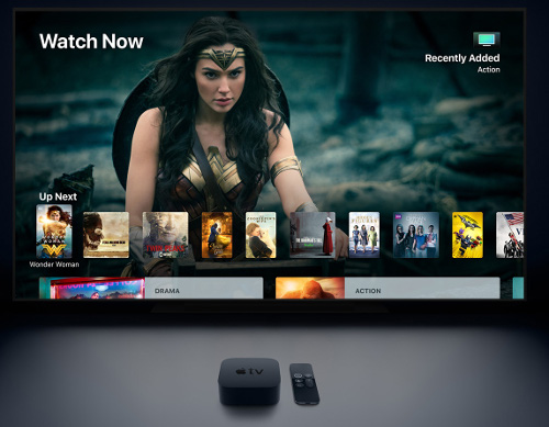 Apple TV 4K delivers a stunning cinematic experience at home, along with an incredible selection of 4K HDR content on iTunes, Netflix and more