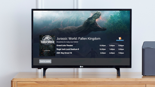 Fandango Comcast Voice Activated Movie Ticketing