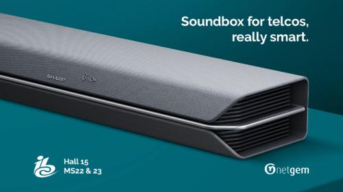 Netgem Sharp Soundbox for telcos soundbar