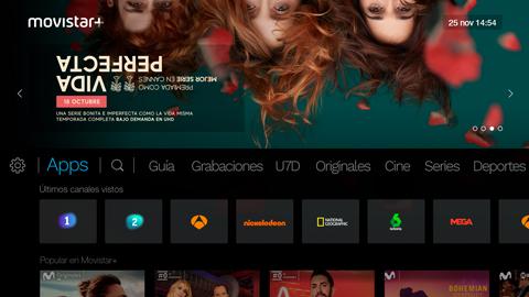 Movistar+ STB screen