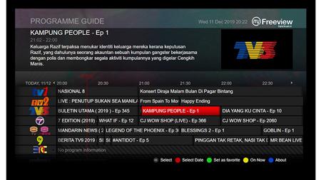 Malaysia MyTV EPG