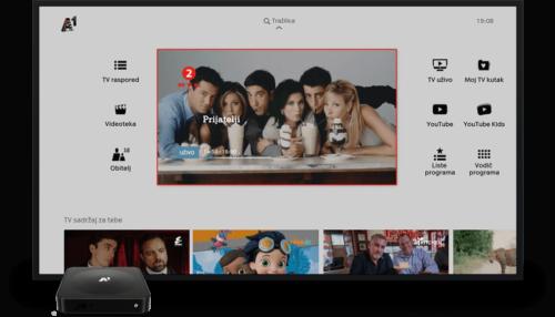 A1 XploreTV Croatia screenshot