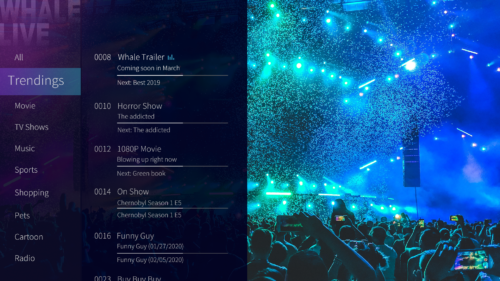 WhaleLive screen
