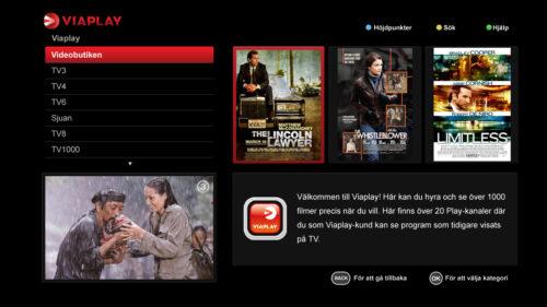 Viaplay screen