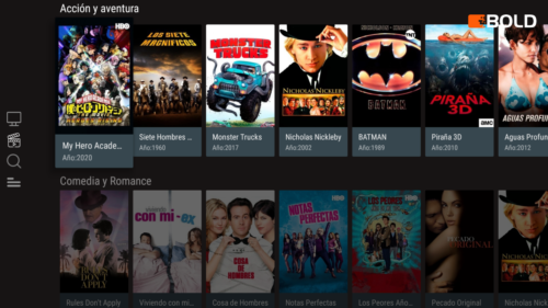 Bold MSS Android TV app VOD view