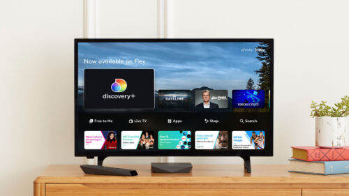 Discovery Plus-Xfinity Flex - screen on home TV