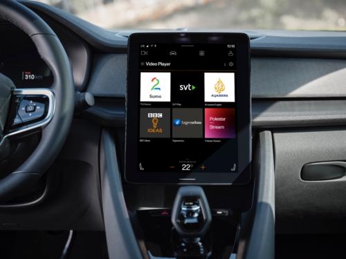 Polestar in-car app display photo