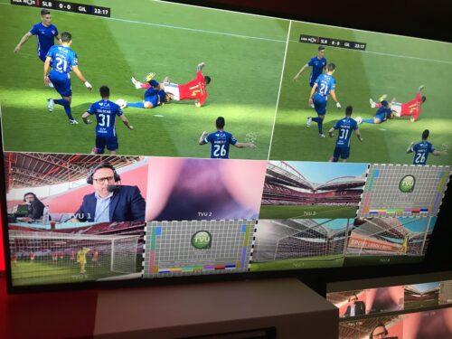 Feeds from 5G cameras placed throughout Estadio da Luz