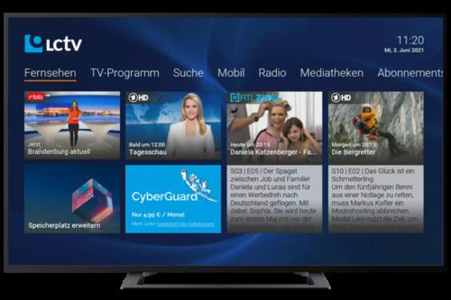 Lünecom IPTV screen