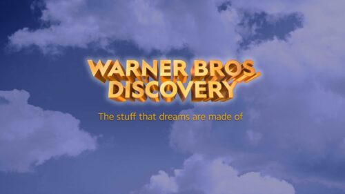 The initial'Warner Bros. Discovery'wordmark for the proposed company.