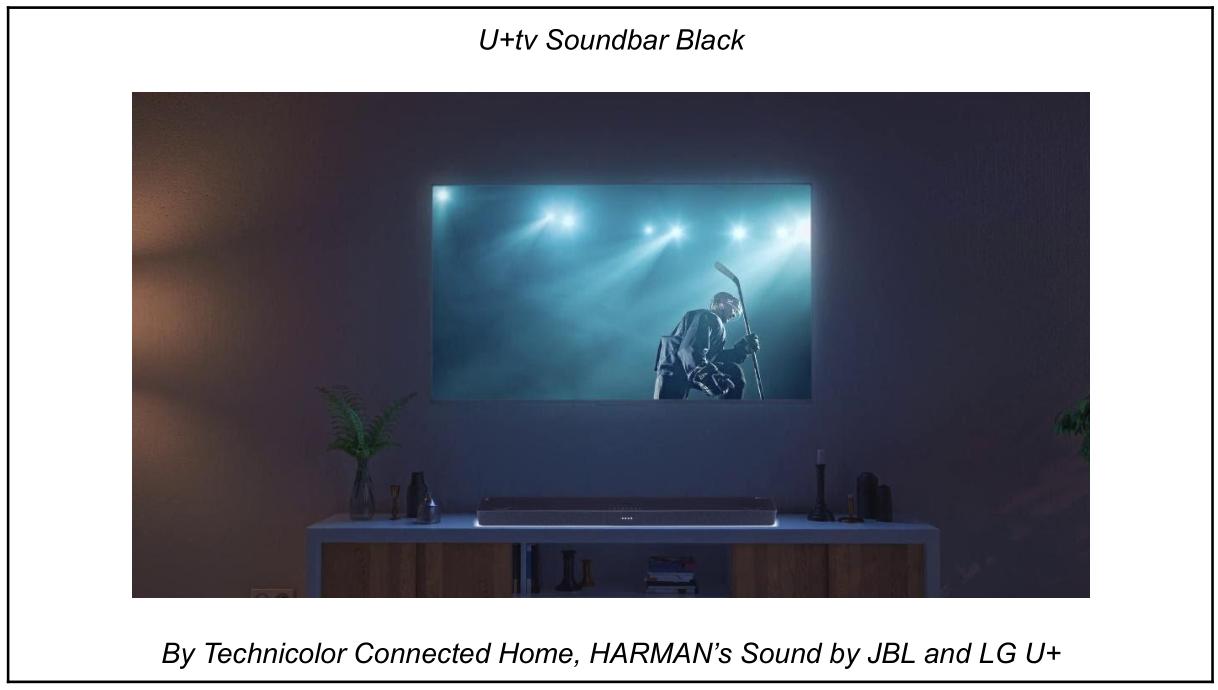 U+tv Soundbar Black - By Technicolor Connected Home, HARMAN's Sound by JBL and LG U+