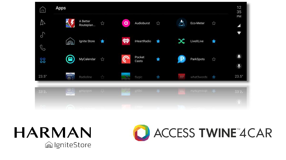 HARMAN-ACCESS In-Car App screen