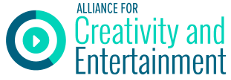Alliance for Creativity and Entertainment logo